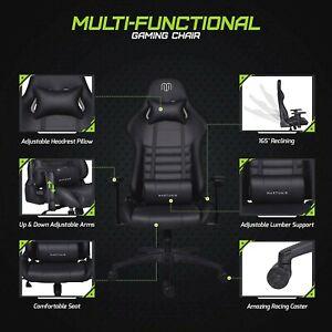 Lumbar Support Gaming Chair High Back Racing Chair Ergonomic Office Chair UK