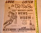 BEER SIGN POC CLEVELAND BARONS HOCKEY TEAM YOUNGSTOWN OHIO PILSENER BREWING