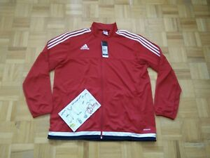 NWT Adidas Tiro 15 Training Red Football Soccer M64060 Full Zip Jacket Men XL