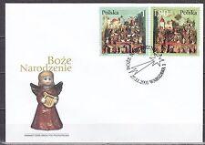 POLAND 2001 FDC SC# 3615 - 3616  Christmas stamps