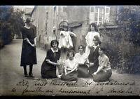 AUTUN (71) PENSIONNAT de ST-ANDOCHE / lot de 2 Cartes-Photos postales début 1900