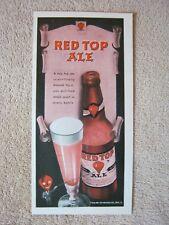 Vintage 1945 Red Top Ale Scientifically Brewed Print Ad