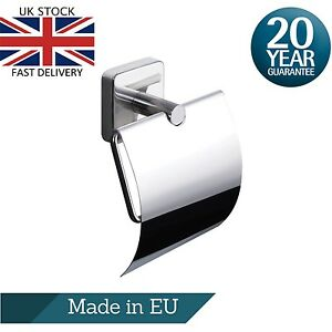 Wall Mounted Self Adhesive Toilet Roll Holder in Stainless Steel 18/10, Stick On
