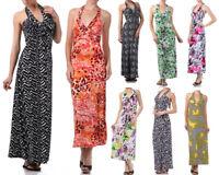 New Women's Summer Long Maxi Halter Dress Beach Casual Party Printed Sundress