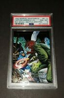 1992 SkyBox Marvel Masterpieces Captain America vs Red Skull PSA Near Mint 8!