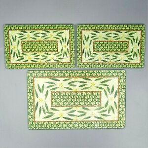 Temptations by Tara Old World Green Glass Trivet Set Rectangle Set Cutting Board