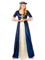 Adult Medieval Maiden Ladies Outfit Fancy Dress Costume Maid Marion Tudor Juliet