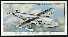 Imperial Airways  Empire Flying Boat  CANOPUS  Original Vintage Card  VGC