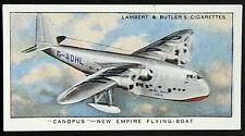 Imperial Airways  Empire Flying Boat  CANOPUS  Original Vintage Card  VGC