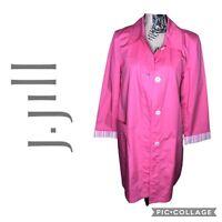 J. Jill Pink Long Coat Button Down Size Meduim Women's Size Medium Pockets