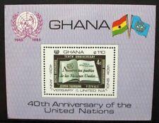 Ghana 1985 uno de la Organización de las Naciones Unidas. hoja De Recuerdo. estampillada sin montar o nunca montada. SGMS 1169.