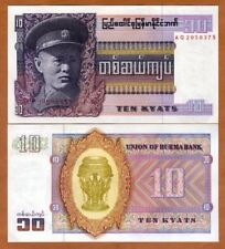 Myanmar / Burma, 10 Kyats ND (1973), P-58, UNC > General San