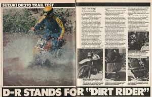 1979 Suzuki DR370 - 6-Page Vintage Motorcycle Trail Test Article