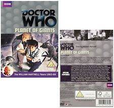 DR WHO 009 (1964) - PLANET OF GIANTS - TV Doctor William Hartnell - NEW R2 DVD