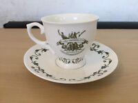 HENDRICK'S GIN CERAMIC CUP & SAUCER ''A MOST UNUSUAL GIN'' RARE DESIGN -GIN TEA