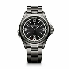 Victorinox 241665 Swiss Army Night Vision Black Ice PVD Steel Mens Watch