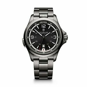 Victorinox 241665 Swiss Army Night Vision Black Ice PVD Steel Mens Watch