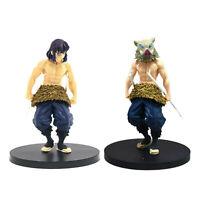 """2 Pcs/Set Demon Slayer Kimetsu no Yaiba Inosuke Hashibira 5.5"""" Figure Toys USED"""