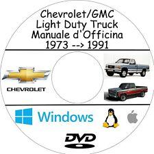 Manuale Officina CHEVROLET/GMC LIGHT DUTY TRUCKS - Assistenza e Riparazione