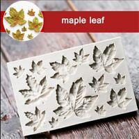 de Molde de hojas de arce Decoracion de pastel Molde de silicona para fondant