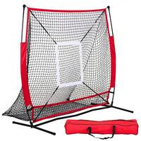 5x5' Baseball Practice Net Pitching Batting Hitting Strike Zone Softball Thrower