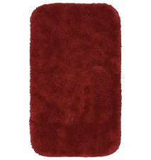 RARE solid bright flag red mainstays bathroom rug brand new shag machine wash
