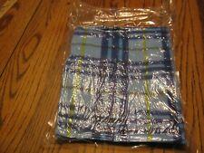 """New The Human Society of the United States Blue Yellow Stripe Blanket 33"""" x 29"""""""
