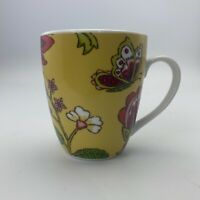 World Market Butterfly Flowers Floral Yellow Red  Mug Cup Flowers And Insects