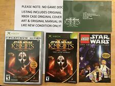 Star Wars KOTOR 2 The Sith Lords Xbox Original Case Cover Art & Manual *NO GAME*
