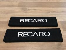 1Pair Car Seat Belt Cover Pads GiftLogoSticker Recaro Seat Motorsport Race Rally