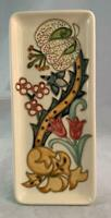 """1998 Moorcroft GOLDEN LILY Tray Designed By Rachel Bishop 3 1/2"""" By 8"""" Floral !!"""