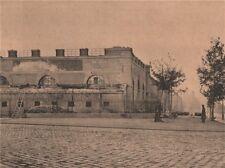 PARIS COMMUNE 1871. Le Grenier d'Abondance après l'armée de Versailles c1873