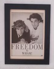 GEORGE MICHAEL*WHAM*Freedom*ORIGINAL*A4*ADVERT*QUALITY*FRAMED*FAST WORLD SHIP
