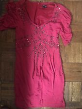 NANETTE LAPORE VINTAGE STUDDED RED DRESS SZ 0