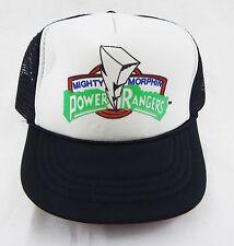 Vintage 1990's Mighty Morphin Power Rangers Black Mesh Youth Trucker Hat
