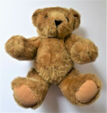 "Vermont Teddy Bear Co Plush Brown Bear Classic Jointed Stuffed Animal Plush 10"""