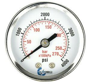 """1//4/"""" NPT inferior de montaje Paquete De 25 calibrador de presión llena de líquido 0-4,000 Psi 2.5/"""" cara"""