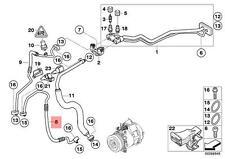 Genuine BMW E70 E70N SUV Refrigerant Discharge Hose Line OEM 64509182779