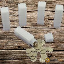 5 CoinSafe DIME Square Coin Tube - Coin Supplies