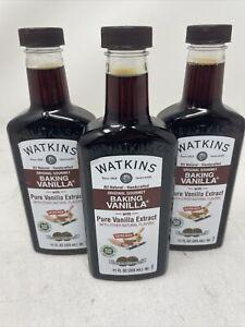 3pk JR Watkins Double Strength Baking Vanilla 11 oz each w Pure Vanilla Extract