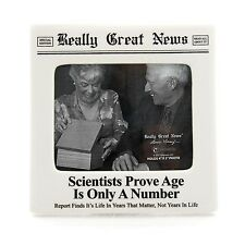 Really Great News 4037247 Age is Only a Number Photo Frame