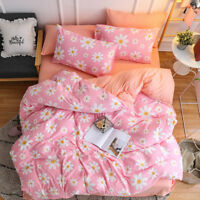 Duvet Quilt Cover Set King/Queen/Double Size Bed New Pink Doona Covers