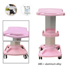 Beauty Rolling Trolley Cart Equipment with Wheel Aluminum Alloy Abs Tray Stand