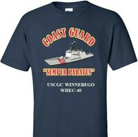 USCGC WINNEBEGO  WHEC-40 *COAST GUARD  VINYL PRINT SHIRT/SWEAT