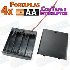 PORTAPILAS 4x AA con tapa R6 6v cable alimentacion PCB battery holder