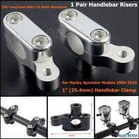 1 in Motorcycle Handlebar Riser Bracket Clamps For Harley Sportster XL1200 04-19