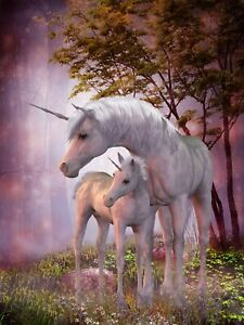 UNICORN CANVAS PICTURE POSTER PRINT WALL ART UNFRAMED