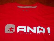 AND1 BASKETBALL SLEEVELESS T-Shirt JERSEY RED SMALL NEW w/ TAG