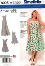 Simplicity Sewing Pattern 8096 Amazing Fit Dresses Ladies Sizes 18W-24W