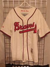 Vintage Starter Cooperstown MLB Milwaukee Atlanta Braves Baseball Jersey MEDIUM